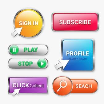 Fare clic e raccogliere pulsanti