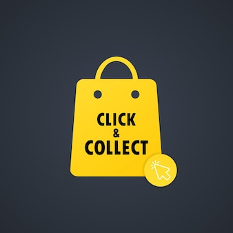 Click and collect icon illustration