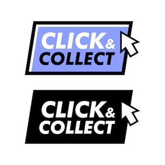 Click and collect stamp with arrow pointer