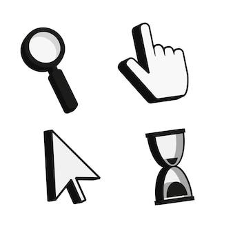 Click cursor 3d icon