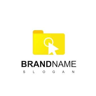 Нажмите «документ», «вдохновение для дизайна логотипа папки»