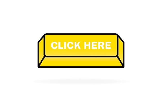 Нажмите здесь кнопку. может использоваться для веб-сайта.