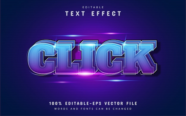 Click text effect with gradient