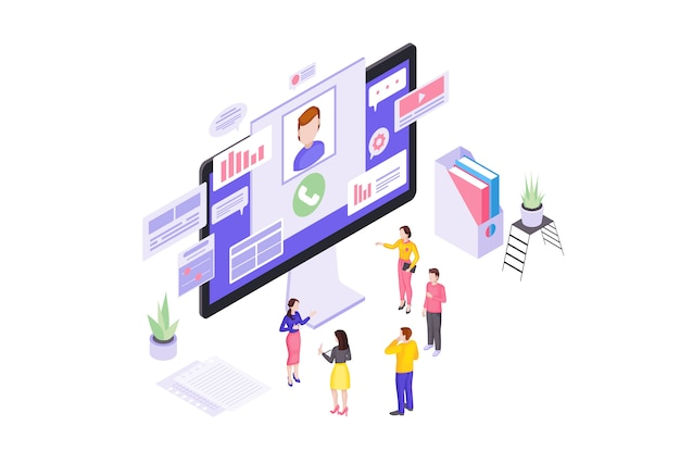 Client service isometric