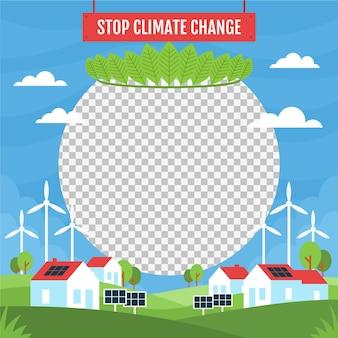 Climate change facebook frame