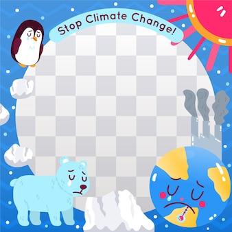 Cornice facebook di cambiamento climatico