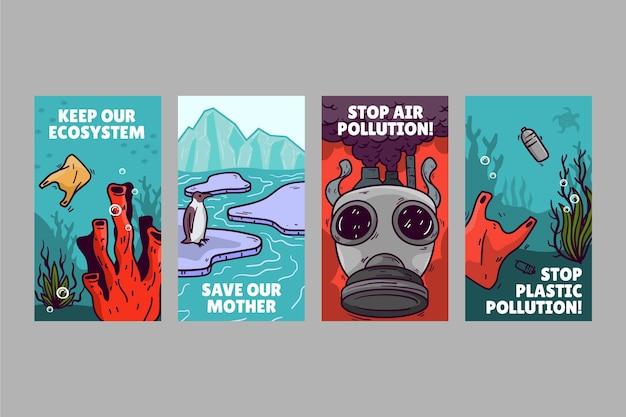 気候変動インスタグラムストーリーコレクション