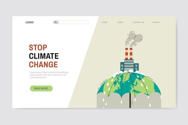 Pagina di destinazione del cambiamento climatico