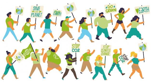 気候変動の抗議