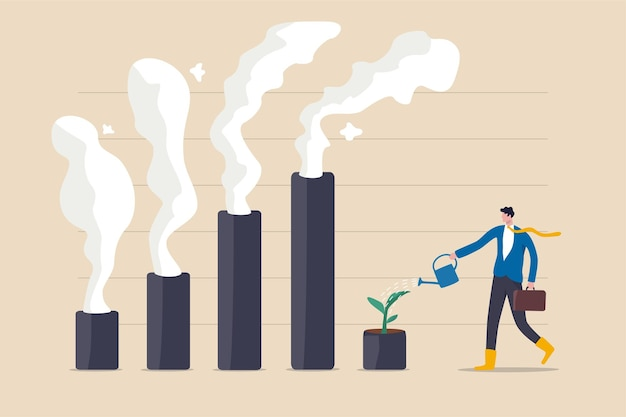 Climate crisis and environment policy, esg or ecology problem concept.