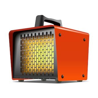 暖房機の気候設備イラスト。