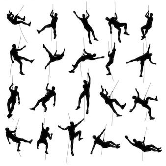 Climber set silhouette