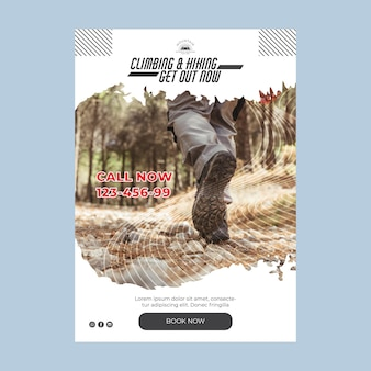 Climbing a5 flyer template with photo