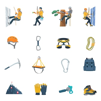 Climbing equipment set