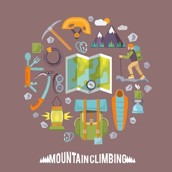 Climbing flat illustration
