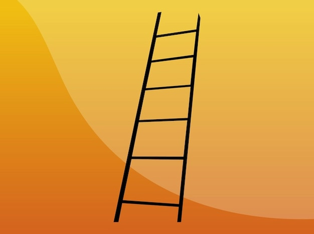 Climbing ladder everyday object vector