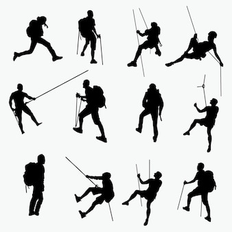 Climbing silhouettes