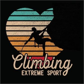 Climbing sillhouete
