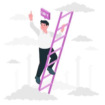Поднимаясь по лестнице концептуальной иллюстрации