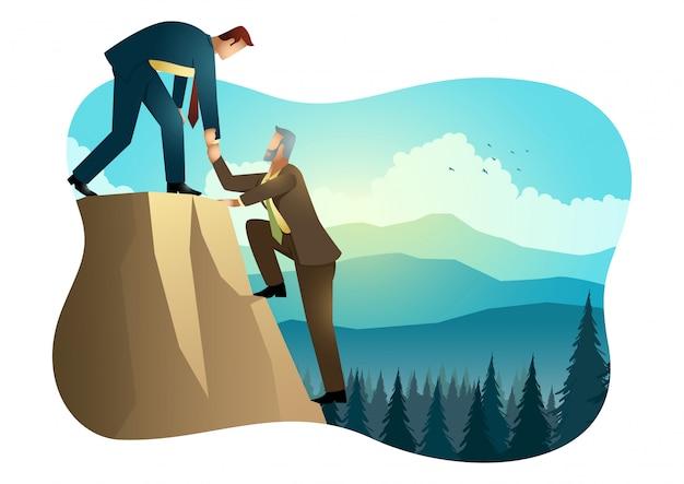 Восхождение на вершину скалы