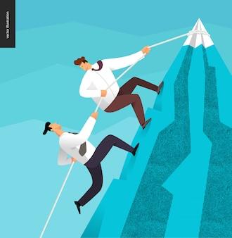 Climbing up business concept