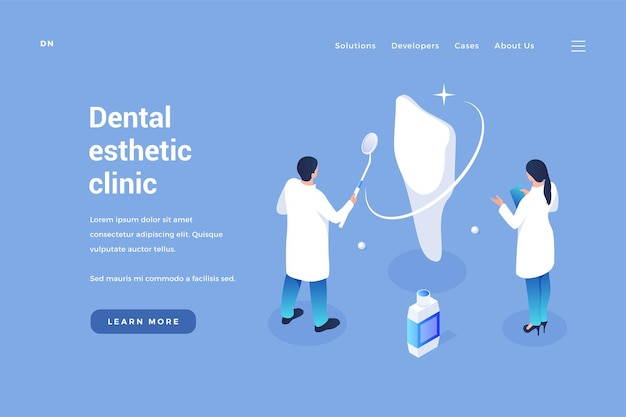 Clinic of aesthetic dentistry dental treatment of oral cavity removal calculus
