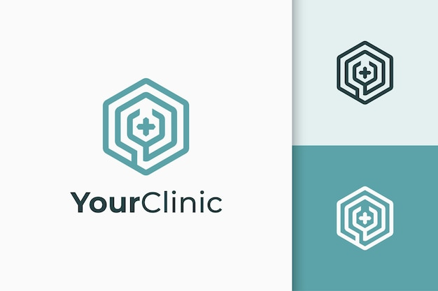 Clinic or apothecary logo in stethoscope shape
