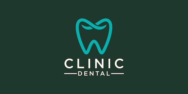 Clinic dental care logo design template. icon tooth abstract modern.