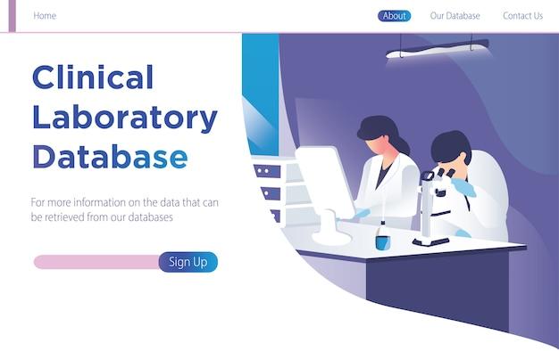 Clinical laboratory database