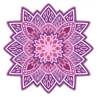 Clip art with isolated purple floral pattern