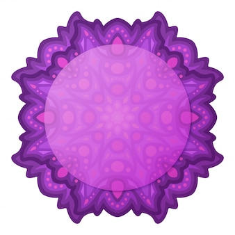Clip art with violet abstract single design