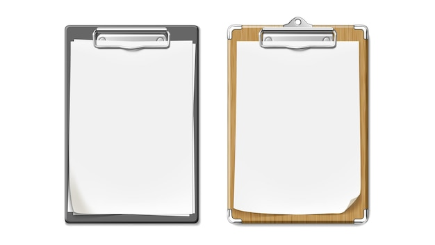 Clip board with wooden and plastic desk set