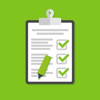 Clipboard checklist illustration