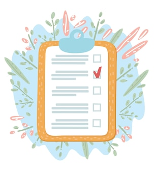 Clipboard checklist with pencil mark
