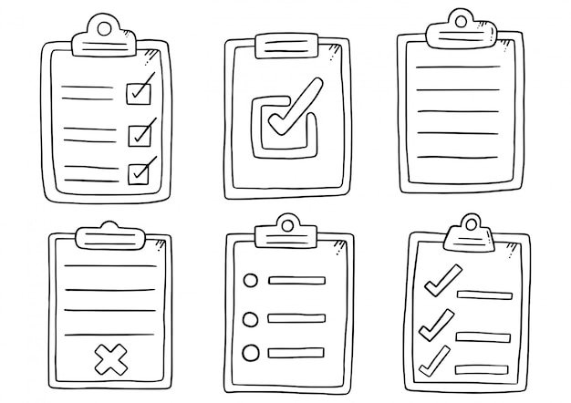 Clipboard icon flat illustration