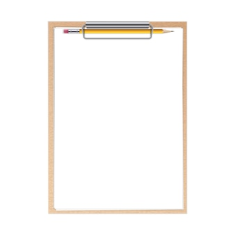 Clipboard paper sheets