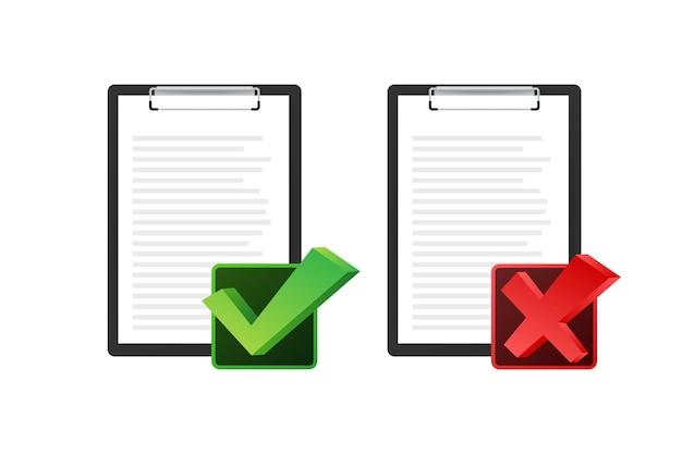 Буфер обмена со значком контрольного списка. буфер обмена со значком контрольного списка для интернета. векторная иллюстрация.