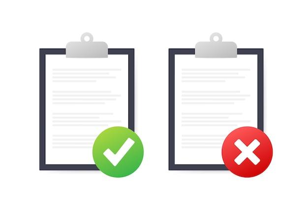 Clipboard with checklist icon. clipboard with checklist icon for web. vector illustration.