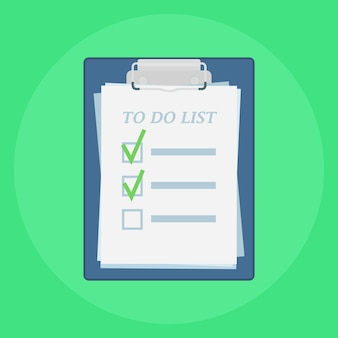 Clipboard with to do list illustration
