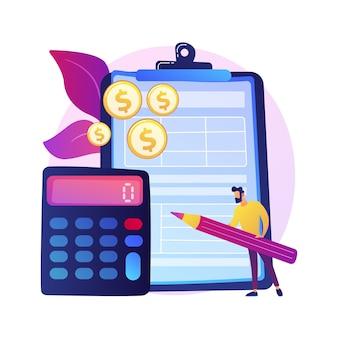 公式ドキュメントを使用したクリップボード。余分なお金を管理する。紙でボード。ファイナンスプレーナー。黄色いコインスタック、お金の山、ボーナスファンド。利益と繁栄。孤立した概念の比喩の図。