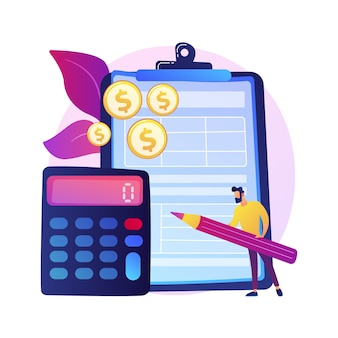 Clipboard with official doc. managing extra money. board with paper. finance planer. yellow coin stack, money pile, bonus fund. benefits and prosperity.  isolated concept metaphor illustration.