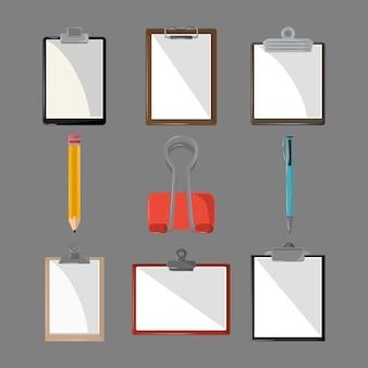Clipboards pencil clip