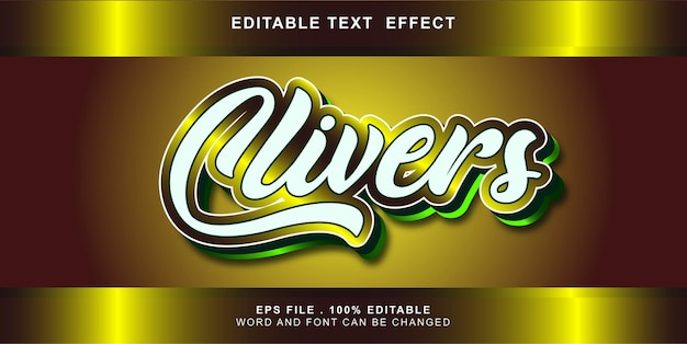 Clivers text effect editable