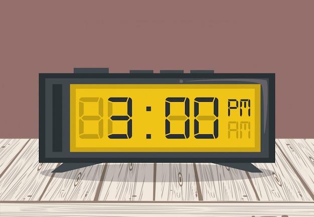 Clkcl digital alarm on table