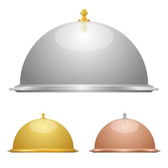 Cloche set   design illustration isolated