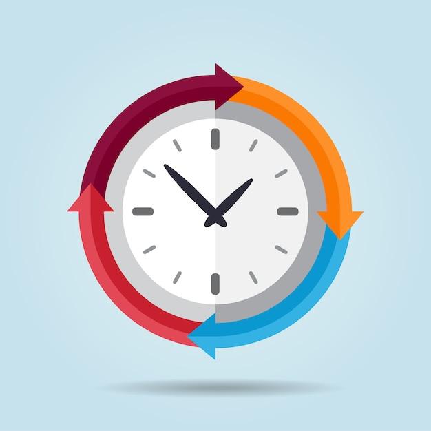 clock vectors photos and psd files free download rh freepik com Cute Clock Clip Art Alarm Clock Clip Art