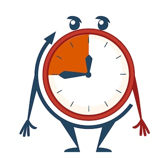 Clock face with deadline time 3 minutes illustration
