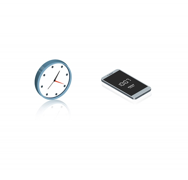 Clock isometric
