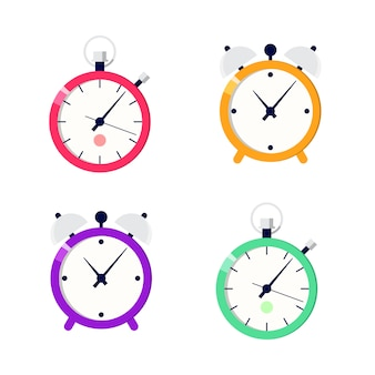 Clock and stopwatch designs illustrations