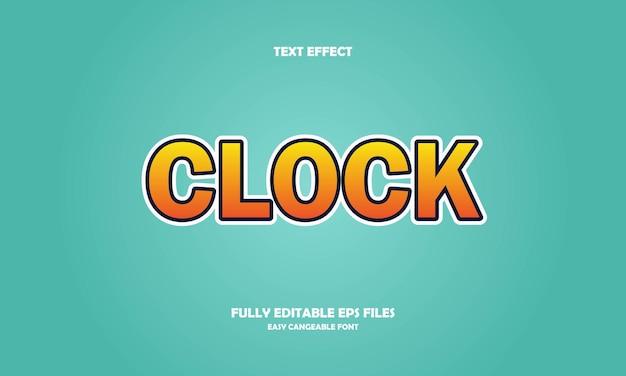 Clock text effect